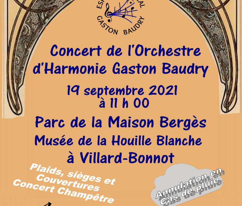 Concert dans le Parc de la Maison Bergés