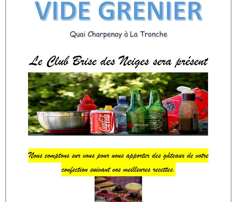 Le Club Brise des Neiges participe au vide grenier le 10 octobre 2021